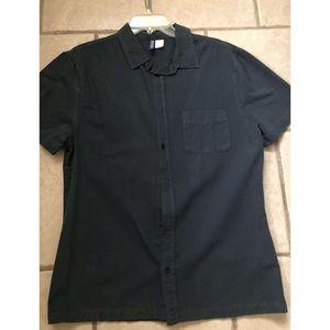 H&M navy blue dress shirt 👔